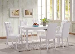 Hgg 7 Teiliges Set Aus Esstisch Und Stühlen Weiß Großer Esstisch