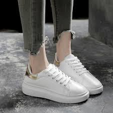 White Designer Shoes Women 2019 Fashion Spring New Designer Wedges White Shoes Female