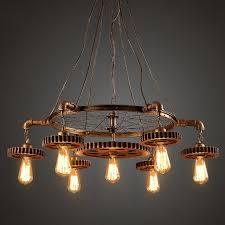 coffee shop lighting. New Loft Industrial Retro Iron Creative Gear Chain Chandelier Personality  Restaurant Coffee Shop Lighting I