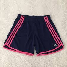 blue adidas shorts with hot 0