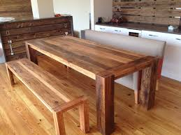 kitchen table bench barn wood dining