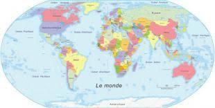 Monde Du Pays Vue Depuis Différents Carte Images En La