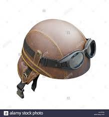 leather helmet stock image