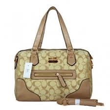 Coach Legacy In Monogram Medium Khaki Totes BZB