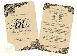 Wedding Programs Template Free Wedding Program Booklet Template Free Printable Fan