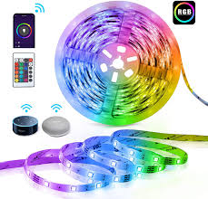 Light Strips That Work With Alexa Smart Led Lights Strip Compatible With Alexa Teckin 16 Million Color Changing Strip Light With Remote Control 16 4ft Smd 5050 Tape Lights Apply For