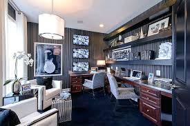 office wallpaper design. Home Office Wallpaper Striped Sets The Mood In This Glamorous Design M I D