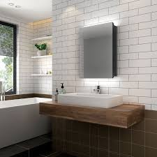 led bathroom mirror cabinet with shaver