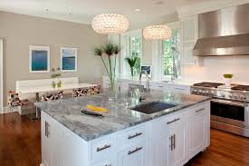 granite counter top kitchen contemporary image ideas with kitchen island recessed lighting breakfast nook lighting