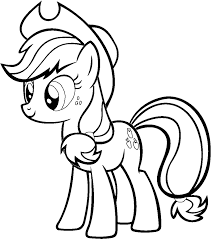 Applejack Coloring Page My Little Pony 01 Central Best Free
