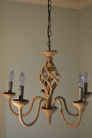 diy rope wrapped chandelier designs