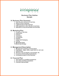 013 Business Plan Outline Template Free Examples Format With