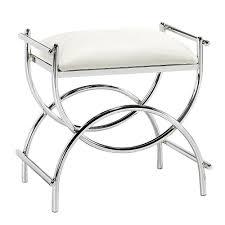 amazoncom curve chrome vanity bench hxw pltd stl