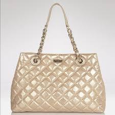 69% off kate spade Handbags - Kate Spade gold quilted Maryanne bag ... & Kate Spade gold quilted Maryanne bag purse Adamdwight.com