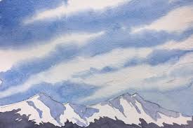 how to paint wi cirrus clouds watercolor