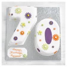 70th Birthday Flowers Cake Waitrose Partners