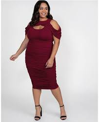 Womens Plus Size Bianca Ruched Dress