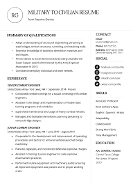 how to write resume with how to write a military to civilian resume resume genius