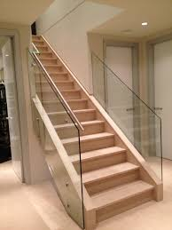 ... Stairs, Captivating Stair Railings Interior Wood Stair Railing Glass  And Silver Metal Stair Railings: ...
