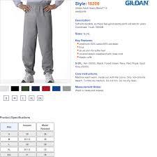Gildan Open Bottom Sweatpants Size Chart Sweatpants Elastic Cuffs Waistband True To Size Apparel