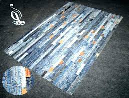 blue jean rug braided rag pattern