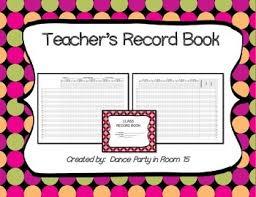 Teacher Record Teachers Record Book