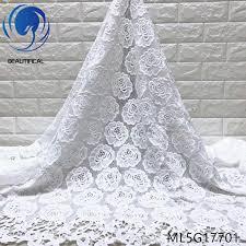 <b>Beautifical guipure</b> lace fabric 2017 <b>african cord</b> lace fabrics white ...