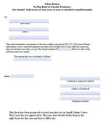 tenant notices templates