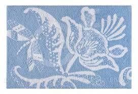 eliza lace blue hooked rug thumbnail c f enterprises