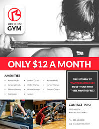 17 flyer templates examples lucidpress gym fitness flyer template