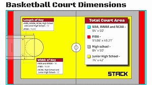 basketball court dimensions and hoop