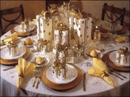 Christmas Wedding Table Centerpieces   ... table centerpiece ideas, gold-white  New