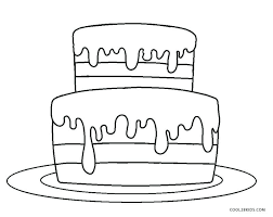 Coloring Birthday Cake Lively Cake For Coloring Birthday Cake For