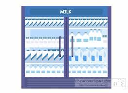 refrigerator clipart. milk-in-the-refrigerator-at-grocery-store-clipart. refrigerator clipart
