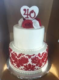 40th Anniversary Cake Anniversary Cakes In 2019 40th Anniversary