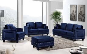 blue sofa living room ideas round white wood coffee table cotton modern cushions case chrome square coffee table black brown detolf glass door cabinet