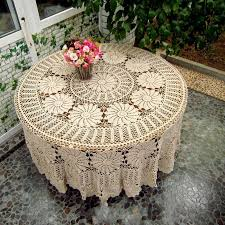huge crocheted table cover tablecloth 90 round by
