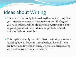 ideas about writing writing like talking is a form of  ideas about writing there is a commonly believed myth about writing that you put pen to