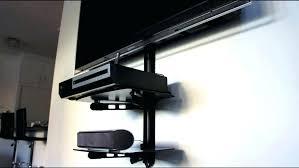 media shelf under tv shelves for wall mounted mount components cable box component shelf under media