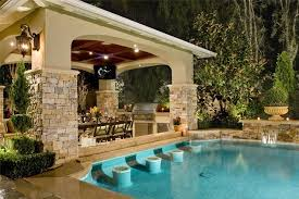 Outdoor Kitchen Designs With Pool Impressive Ideas