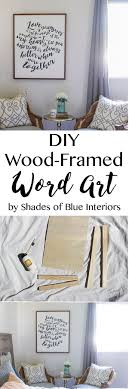 How to make wood-framed word art out of 1x2s and 1/4