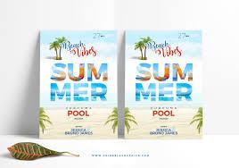 Beach Flyer Free Summer Beach Flyer Template Dribbble Graphics