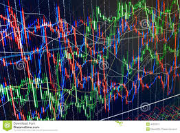 Code Stock Chart Display Of Stock Market Quotes Chart Graph On M Abstract