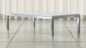 parsons white marble top stainless
