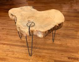 live edge wood slab coffee table live