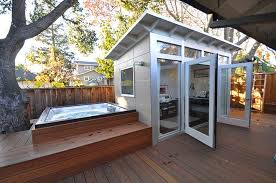 Small Picture Backyard hangouts Sheds are used as pubs studios retreats and