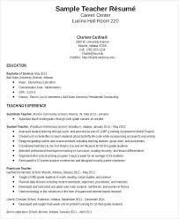 Resume Samples For Teaching Job Resume Substitute Resume Example ...