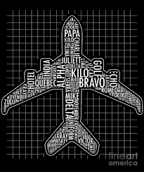 The nato phonetic alphabet is a spelling alphabet used by airline pilots, police, the military, and others when communicating over radio or telephone. Phonetic Alphabet Airplane Pilot Flying Aviation Digital Art By The Perfect Presents