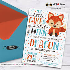 Birthday Invitation Party Woodland First Birthday Invitation Woodland Invitation Fox Invitation Animals Printable Invitations Party Animals Birthday Invitation