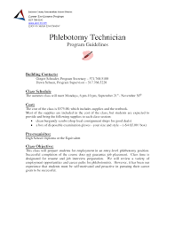 Phlebotomist Cover Letter Phlebotomist Objective Resume Sample